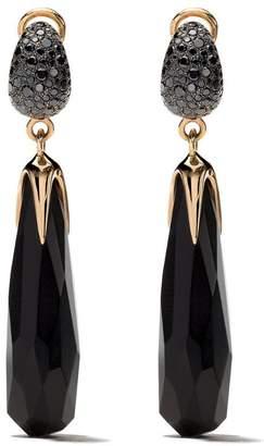 Pomellato 18kt rose gold Victoria jet and black diamond earrings