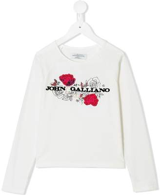 John Galliano logo print long sleeve T-shirt
