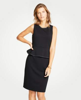 Ann Taylor Petite Stitched Peplum Sheath Dress