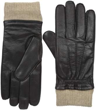 Armani Exchange A|X  Men's Double Layer Leather Gloves