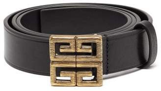 Givenchy 4g Leather Belt - Mens - Black