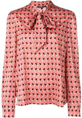 Luisa Cerano pussy bow pattern blouse