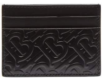 Burberry Logo Embossed Leather Cardholder - Mens - Black