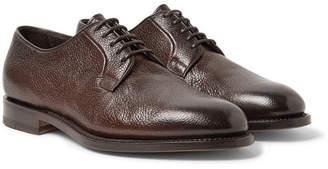 Santoni Pebble-Grain Leather Derby Shoes