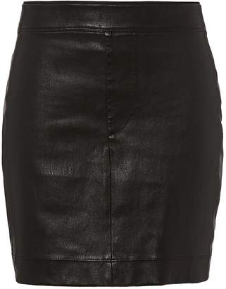 Helmut Lang Core Black Stretch Leather Mini Skirt