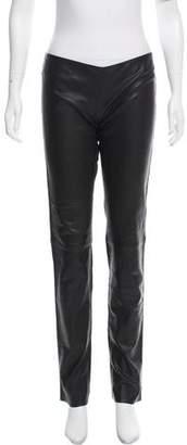 Jitrois Leather Mid-Rise Pants
