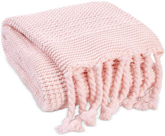 Charter Club Damask Designs Multi-Knit Tassel Throw, Created for Macy's