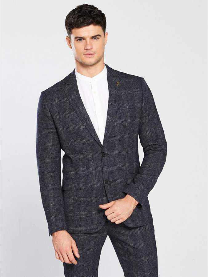 Goldsborough Fleck Checked Suit Jacket