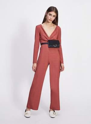 127acac2a39 Miss Selfridge PETITE Rust Twist Front Jumpsuit