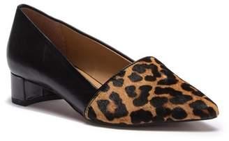 Franco Sarto Venetia Pointed Toe Genuine Camel Hair Block Heel