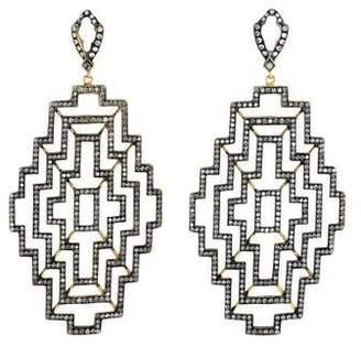 Loree Rodkin 18K Diamond Geometric Drop Earrings