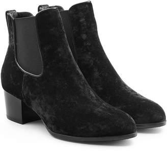 Hogan Velvet Ankle Boots