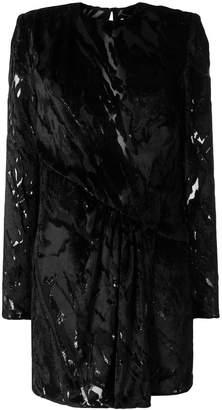 Saint Laurent ruched devoré mini dress