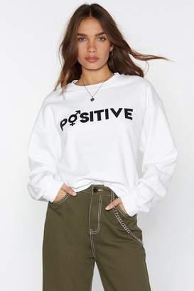 Nasty Gal MTV Staying Alive Positive Sweatshirt