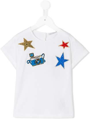 Dolce & Gabbana embroidered stars T-shirt