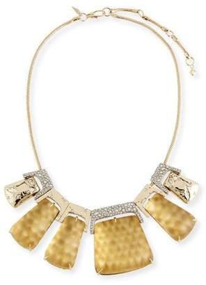 Alexis Bittar Rocky Metallic Large Statement Necklace
