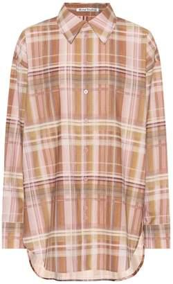 Acne Studios Oversized plaid cotton shirt