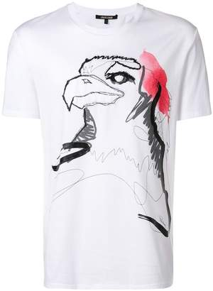 Roberto Cavalli embroidered painted eagle T-shirt