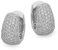 Lafonn Sterling Silver Embellished Hoop Earrings