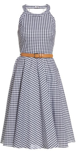 Women's Eliza J Belted Fit & Flare Dress 3