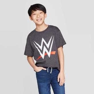 WWE Boys' LOGO Short Sleeve T-Shirt - Charcoal Gray