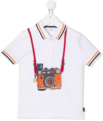 Little Marc Jacobs printed polo shirt