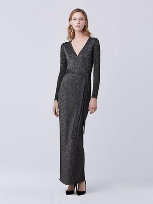Evelyn Maxi Knit Wrap Dress $598 thestylecure.com