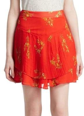 Derek Lam 10 Crosby Floral Pleated Mini Skirt