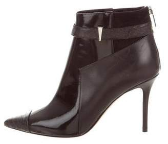 Prabal Gurung Patent Leather Ankle Boots