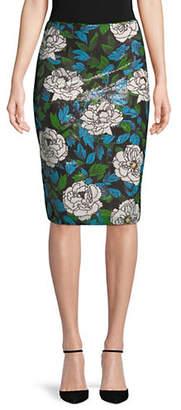 Diane von Furstenberg Floral-Print Pencil Skirt