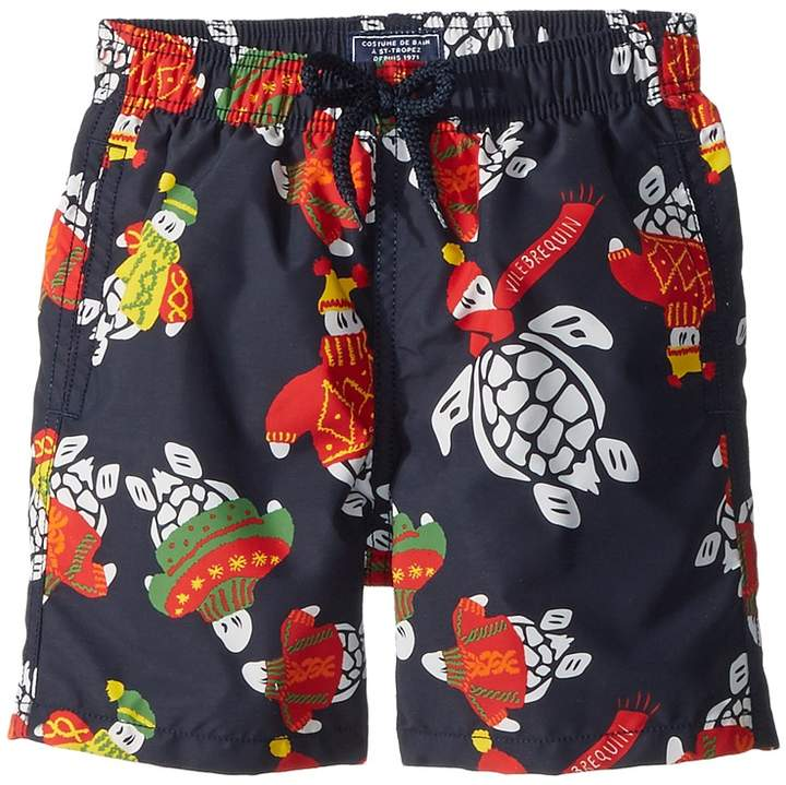 Vilebrequin Kids Sweater Turtles Swim Trunk Boy's Swimwear