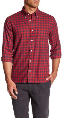 Brooks Brothers Brushed Twill Gingham Print Shirt