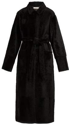Inès & Marèchal Diabolo Shearling Coat - Womens - Black