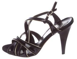 Alejandro Ingelmo Patent Leather Crossover Sandals