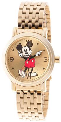 EWatchFactory Women Disney Mickey Mouse Gold Bracelet Watch 38mm