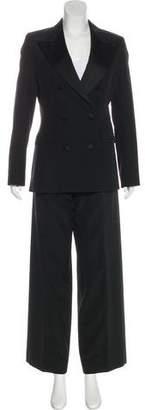 Saint Laurent Double-Breasted Wool Pantsuit