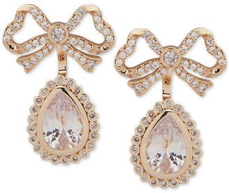 Jenny Packham Crystal Bow Jacket Earrings