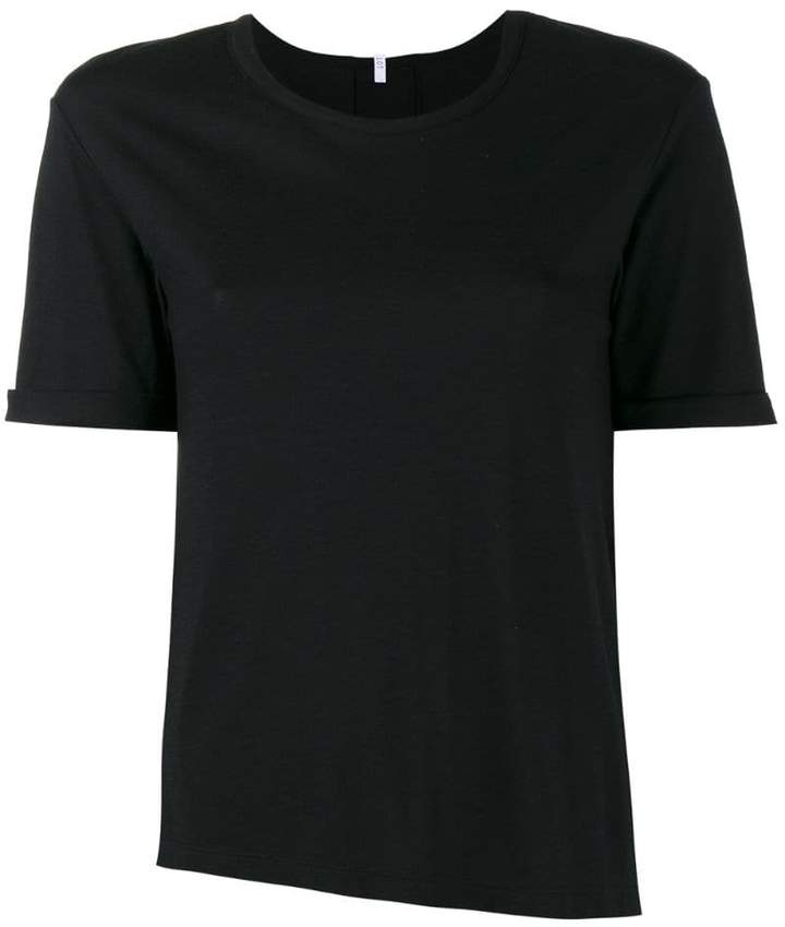 Lot 78 Lot78 Black Cashmere Blend Side Split T Shirt