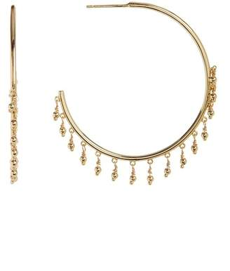 Gorjana Sol Open Fringe 45mm Hoop Earrings
