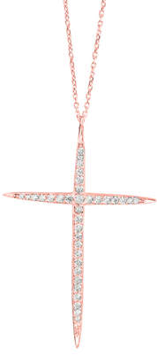 GABIRIELLE JEWELRY Silver Cz Large Cross Necklace