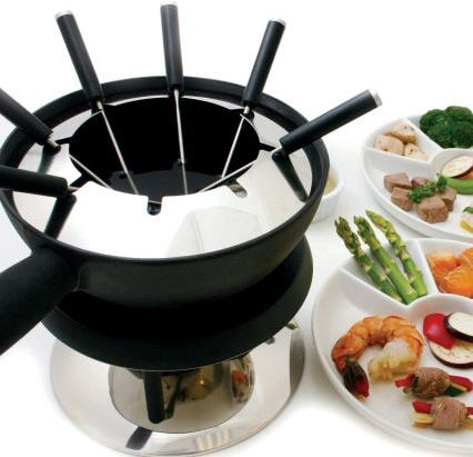 Swissmar AlpenGlow Electric Fondue Set
