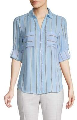 philosophy Striped Button-Front Shirt