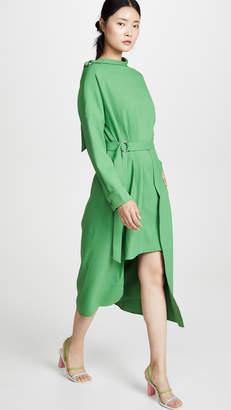 Tibi Removable Apron Dress