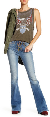 Genetic Denim Lace-Up Flare Jean $169 thestylecure.com