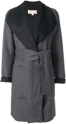 MICHAEL Michael Kors belted contrast coat