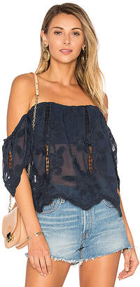 Lovers + Friends Life's A Beach Top in Navy $138 thestylecure.com