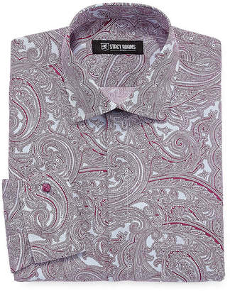 Stacy Adams Long Sleeve Woven Paisley Dress Shirt