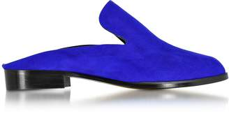 Robert Clergerie Alicem Electric Blue Suede Mule