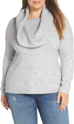 Caslon Metallic Convertible Neck Sweater