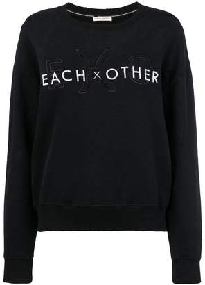 Each X Other front logo loose sweatshirt
